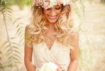 boho chic wedding ideas / Boho Chic Weddings - Vintage vibes and shabby chic style. Many styles of Boho included: boho glam, rustic boho and more. Think beautiful floral crowns, hand-picked floral bouquets, long dresses, and long locks. / by michelle mospens
