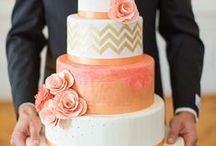 coral orange wedding / by michelle mospens
