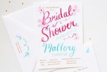 bridal shower invitations / Fresh and flirty custom bridal shower invitations. / by michelle mospens