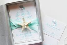 beach wedding invitations / by michelle mospens