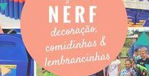 Festa Nerf / Inspirações de decoração de festa, mesa temática, aniversário infantil, brincadeira, lembrancinhas e comidinhas do tema Nerf.