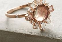 nuptials {the bling} / Round, princess, and emerald. Vintage gold and pristine platinum.