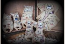 RUSSIAN POSSIBLE QUOTE DOLLS / Whimsicall Animal doll with wonderful quotes, all for sale or order with your favorite quote
