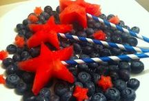 Patriotic treats / Looking for some patriotic-themed foods and drinks for your gathering? Look no more! Some tasty treats here for your Patriotic party. 4th of July, Memorial Day ~ Brought to you by Operation We Are Here, your military/veteran family resource website. / by Operation We Are Here ~ Military Resources