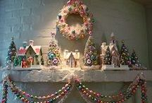 Christmas - Mantel, Shelf, Wall decor / by Karen Sweitzer