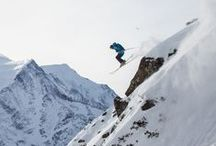 Wintersports / SKIING IS ABOUT TESTING YOURSELF – SEEING THE POSSIBILITIES THAT YOU ARE PRESENTED AND PUSHING YOURSELF TO SEIZE THE GREATEST CHALLENGES.   WHEN THE OPPORTUNITY TO SKI A NEW LINE ARISES, YOU CAN EITHER STARE IT DOWN, OR LOOK AWAY.