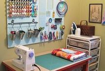 Creative space / Ideas for our office/craft room / by Tracy Pellegrin