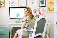 Work Space / Inspirational decor ideas for the home office or small businesses.