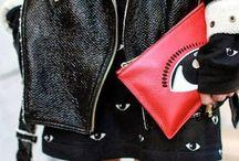 EDGY CHIC / leather x black x edgy x studs x spikes x skulls   fashion / by B A M
