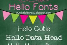 Fonts / by Leslie Galema