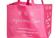 Food Retail & Marketing / Promotional bags created for food manufacturers and retailers. Includes cake bags, cake carry bags and bottle bags.   #food #retailers #cake #hospitality