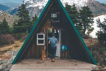 Cabins & Tiny Houses / Collection of cabins, cottages, and tiny houses for a getaway.