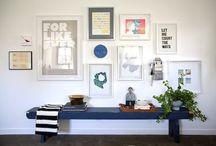 Gallery Arrangements / Gallery walls, inspiration boards, mood boards, and beautiful arrangements.