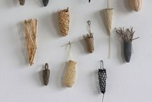 Wood, Leaf, Stone / Natural objects and materials as art inspiration. Nature art, land art, and pretty natural objects.