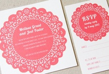 wedding invitations & save the date cards. / by Lizet Beek