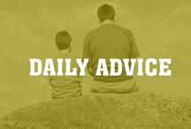 Daily Pieces of Advice / Daily tips about how to live each day to its fullest.   The days include Thankful Sunday, Mindful Monday, Choose Tuesday, Wisdom Wednesday, Action Thursday, Transformation Friday, and Peace and Love Saturday.  / by Intent Dot Com