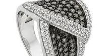 "Jewels. Black & White. / ""Women who wear black lead colourful lives."" ~  Neiman Marcus."