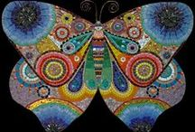 Mosaics - Butterflies, Dragonflies, Insects, Bugs and Critters / by Kasia Polkowska