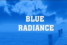 Blue Radiance / Blue is the color of the sky and sea. It is often associated with depth and stability. It symbolizes trust, loyalty, wisdom, confidence, intelligence, faith, truth, and heaven.  Blue is considered beneficial to the mind and body. It slows human metabolism and produces a calming effect. Blue is strongly associated with tranquility and calmness.