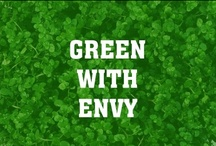 Green With Envy / Green is the color of nature. It symbolizes growth, harmony, freshness, and fertility. Green has strong emotional correspondence with safety. Dark green is also commonly associated with money.  Green has great healing power. It is the most restful color for the human eye; it can improve vision. Green suggests stability and endurance.