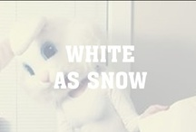 White as Snow / White is associated with light, goodness, innocence, purity, and virginity. It is considered to be the color of perfection.  White means safety, purity, and cleanliness. As opposed to black, white usually has a positive connotation.