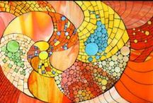 Kasia Mosaics - Abstract Compositions / Abstract Stained Glass Mosaic Compositions by Kasia Polkowska  Visit Kasia Mosaics on Facebook: https://www.facebook.com/KasiaMosaics / by Kasia Polkowska