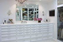 """Jewellery Closet Dreams / """"I like my money right where I can see it... hanging in my closet.""""        ~  Carrie Bradshaw  (SITC)  ...  Jewellery storage solutions to dream about."""