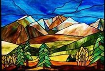 Stained Glass - Landscapes / by Kasia Polkowska