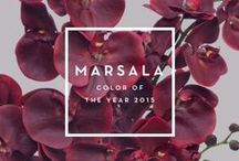 Marsala ~  2015 Pantone Colour of the Year / Sharing a little sweet marsala love ...