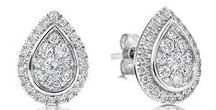 """Diamond Earrings / """"They sparkle like your eyes in the summer sun ...  """""""