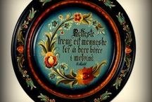 Rosemaling and Folk Painting / Ideas, advice, and inspiration for traditional folk painting from Sweden and Norway, a little Bauernmalerei, tole painting, etc.  / by Marti Anderson