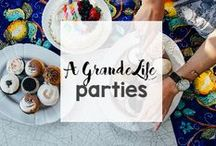 Get the Party Started! / It's a celebration! Party themes, party decor, party and crowd pleasing recipes, and so much more to make your bash the best!