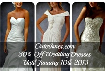 SAVE $$$s OFF Your Dress! OI Coupons & Deals  / Who doesn't love a good deal on new dresses? Follow this board to grab our latest offers and deals which are updated here regularly & get yourself a real bargain! / by OuterInner.com | Dresses, Bridal Wear, Weddings & More!