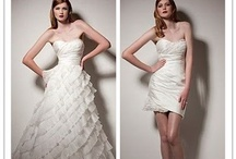 OI 2 in 1 Wedding Dresses / These clever wedding dresses can be converted from long to short in just moments. Their skirt is detachable, meaning that you don't need a separate wedding and reception dress :-) These wedding dresses save you money, and look great!