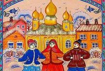 Common Folk's Art / Folk Art - the homey art of people from any time, any place.  / by Marti Anderson