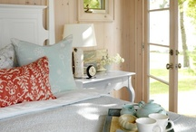 HOME:  ....COTTAGES.  Whitewashed paneling  / Shabby but comfy.....always the best.........