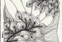 ART:     PRINTS. Etchings. Pen and Ink,  / ...prints, black and white. Zentangles. Line Drawings...