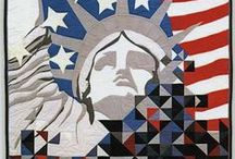 Quilt ~ Patriot / Quilts and quilt blocks that celebrate America, the US Flag, the US military, past Patriots, Founding Fathers, Quilts of Valor, etc.   / by Marti Anderson