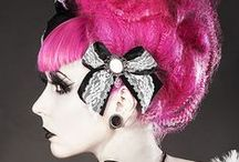 Captivating Coiffures / Alternative hairstyles, colored hair, wigs, pin-up, and hot-rolled tresses of stunning transformations.