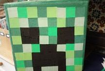 Minecraft party / Minecraft themed birthday party / by Kirsten Efird