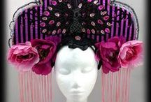 Burlesque Headpieces by Hexotica / Transform yourself with a custom handmade headpiece, from beaded, flower, or feather fascinators, tiaras, crowns, kokoshniks, to showgirl carnival headdresses. Handmade headdresses by Hexotica available on Etsy from Melbourne, Australia.