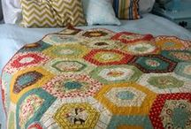 Quilt ~ Hexagon / Ideas and inspiration for quilts made up of hexagons. / by Marti Anderson