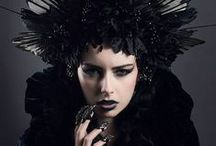 Gothic Headdresses / Black head wear for witches, vampires, gothic brides, costumes, and decadently dark souls.