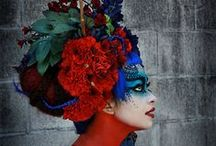 Exotic Headdresses / Feather and fantasy, medieval and modern, Oriental or Western, costume head wear that invokes the primal spirits into play.