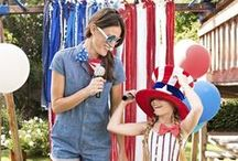 July 4th Fun / Celebrate the Fourth of July with these red, white, and blue crafts, decorations, games, party ideas, and activities!