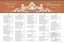 Orange Wedding Seating Charts / Orange Wedding Seating Boards but also available in 23 other colors. All our wedding seating boards are available with mounting or framing. Fast turnaround - most charts arrive in 3-5 business days. / by Seating Chart Boutique