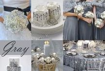 Color Inspiration: Silver & Gray / Wedding & Event Color Palettes: Silver, Metallic Silver & Gray