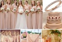 Color Inspiration: Rose Gold, Blush & Pink / Wedding & Event Color Palettes: Pink, Rose Gold, Blush & Peach