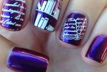Book Nail Art / Bibliophiles: now there's novel nail art just for us!