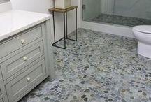 Stunning Bathroom Floors / Unique, creative, and stunning bathroom floor designs.